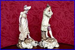 A Pair of Rare Antique'Von Schierholz of Plaue' Figurines, Thuringia, Germany