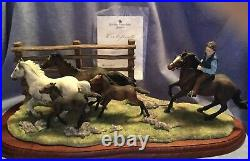 BORDER FINE ARTS The Drift New Forest Ponies Limited Ltd Edition Horse Box Cert