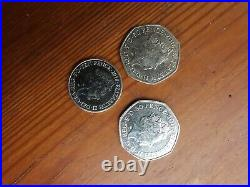 Beatrix Potter 50P Half Whisker Peter Rabbit coin