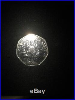 Beatrix Potter Peter Rabbit Half Whisker Rare 50p Circulated