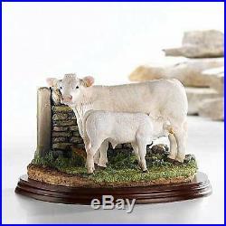 Border Fine Arts A9631 Charolais Cow & Calf