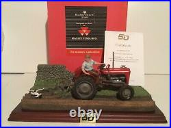 Border Fine Arts, Autumn Ploughing, massey, new boxed, cert, excellent condition