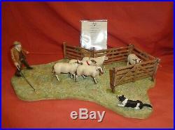 Border Fine Arts BFA Anxious Moment Shepherd Sheep Border Collie B0854 Ltd Ed