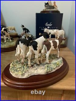 Border Fine Arts BO519 Three Young Calves Figure