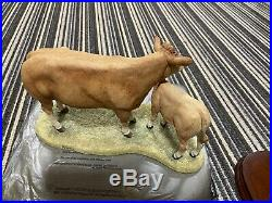 Border Fine Arts Blonde DAquitaine Cow And Calf limited edition B0353