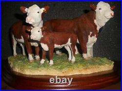 Border Fine Arts Classic Hereford Family, Bull, Figur, Herford Rind Kuh BNIB