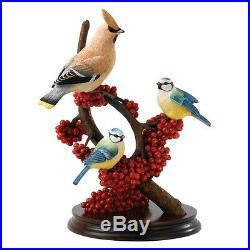 Border Fine Arts Classic Pecking Order B1539 Ltd Edition Waxwing & Blue tits