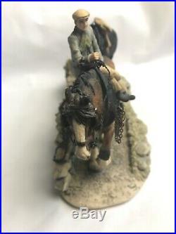 Border Fine Arts Farmer & Two Shire Horses'Coming Home' 1985 Made in Scotland
