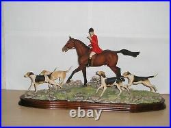 Border Fine Arts GONE AWAY Hunting, foxhound David Geenty