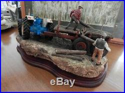 Border Fine Arts Hard Work By Hand Tractor Boxed Scarce