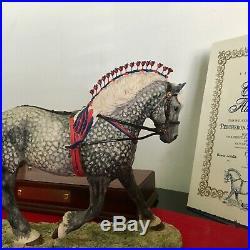 Border Fine Arts Horse Gold Edition PERCHERON STALLION v rare Made in Scotland
