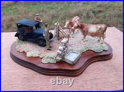 Border Fine Arts James Herriot'VIEWING THE PRACTICE' Cows Vet Vintage car Ayres