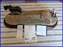 Border Fine Arts Large Diorama'clean Sweep' Limited Edition With Coa