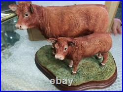 Border Fine Arts Limousin Cow And Calf New In Box Jack Crewdson B0657 Limited