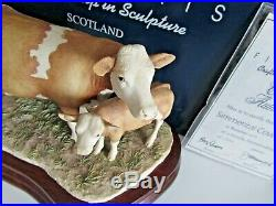 Border Fine Arts SIMMENTAL COW & CALF Ltd Ed 605/1500