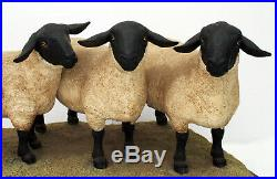 Border Fine Arts Sheep Suffolk Family Group B0197 Ray Ayres Limited Edition
