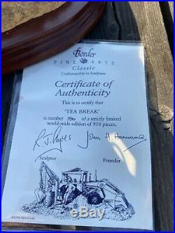 Border Fine Arts Tea Break JCB Limited Edition 56/950 Excellent Cond