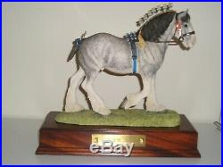 Border Fine Arts VICTORY AT THE HIGHLAND RARE Blue Roan Gold Edition