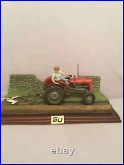 Border fine arts AUTUMN PLOUGHING. MF35 and Plough. BRAND NEW