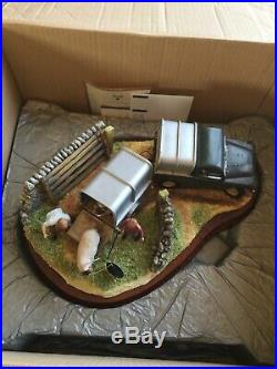 Border fine arts BACK FROM THE AUCTION Landrover Trailer Sheep etc BOXED