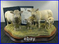 Border fine arts Charolais Family Group, Limited Edition Of 1,250 This Being 656