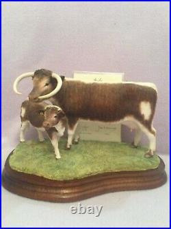 Border fine arts LONGHORN COW and CALF