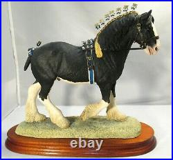 Border fine arts OOAK Horse in a Black colour Victory at the Highland L149