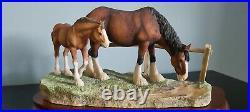 Border fine arts horses' Summer days' very rare piece