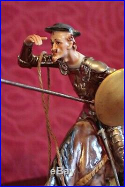 Capodimonte (B. Merli) Porcelain Group Figurine'Don Quixote and Sancho Panza