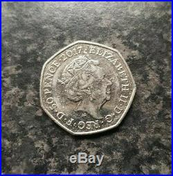 Mr Jeremy Fisher 50p 50 Pence Coin 2017 Beatrix Potter Collector EXTREMELY RARE