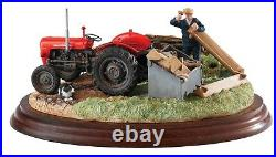 NEW Border Fine Arts Red Massey Ferguson Tractor Model Title Is Repairs Required