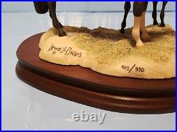NEW VERY RARE Lowell Davis Woodscolt Schmid Border Fine Arts Mare and Foal
