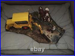 New Border Fine Arts Laying The Clays limited ed. JCB Digger
