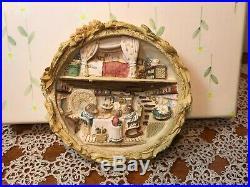 RARE Brambly Hedge Border Fine Arts Harvest Mice Cameo/Plaque