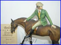 Rare Border Fine Arts Ltd Edition Riding Out Man On Horseback David Geenty L81