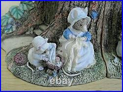 Rare Pair Of Border Fine Arts Brambly Hedge Bookends Poppy & Babies Bhb01
