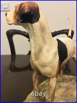 Superb Limited Edition Border Fine Arts Foxhound B1011 Signed Margaret Turner