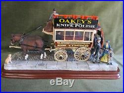 The London Omnibus, Border Fine Arts Horse Drawn Bus with Timbercraft Oak Case