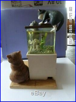 Truly Tropical Comic And Curious Cats A6044 Light Up Fish Tank Very Rare, Vintage